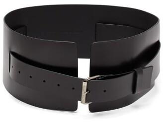 Ann Demeulemeester Kenya Wide Leather Belt - Womens - Black
