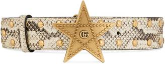 Studded python belt with star buckle $595 thestylecure.com