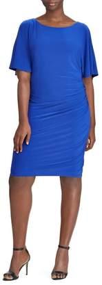 Lauren Ralph Lauren Maia Ruched Jersey Sheath Dress