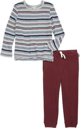 Splendid Stripe Sweatshirt & Sweatpants Set