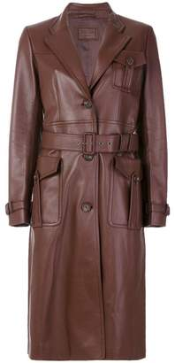 Prada fitted tailored biker coat