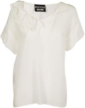 Moschino Ruffled Neck T-shirt