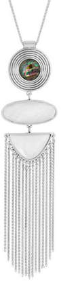 Lucky Brand Poets Garden Crystal Tassel Necklace