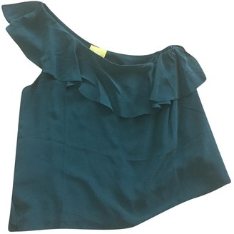 Anthropologie Green Silk Top for Women