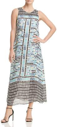 Nic+Zoe Color Wave Printed Midi Dress