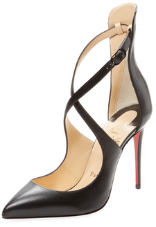 Christian Louboutin  Marlenarock Crisscross Leather Pump