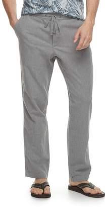 Marc Anthony Men's Slim-Fit Elastic-Waist Linen-Blend Pants
