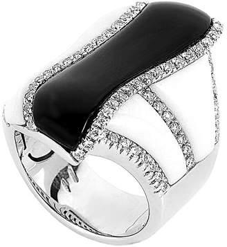 Heritage Oro Trend 18K 0.68 Ct. Tw. Diamond & Onyx Ring