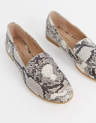 New Look Loafer in snake print