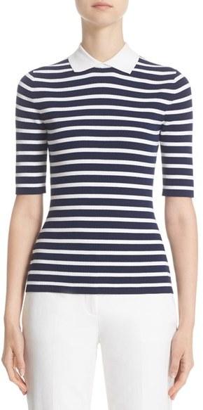 Women's Michael Kors Stripe Elbow Sleeve Top