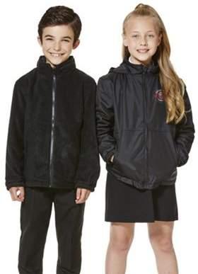 F&F Unisex Embroidered Reversible School Fleece Jacket 12-13 yrs