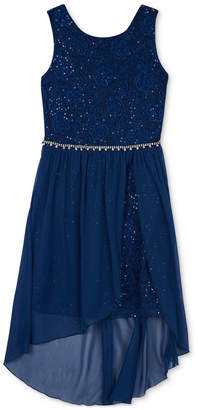 BCX Big Girls Sequin High-Low Hem Dress