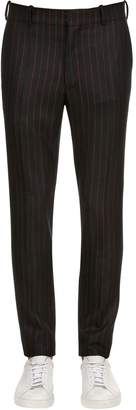 Alexander McQueen 17cm Striped Wool Trousers