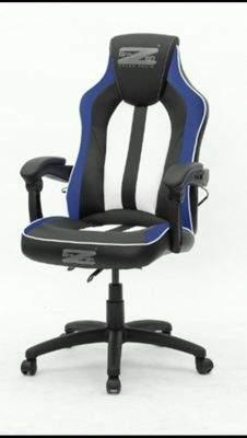 Brazen Stealth 4.0 Surround Sound Bluetooth Pc Gaming Chair Black/white/blue