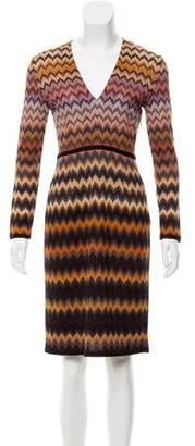 Missoni Chevron Patterned Wool-Blend Dress