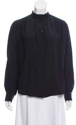 Alexander Wang Silk Button-Up Blouse Black Silk Button-Up Blouse