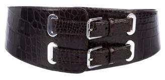 Ralph Lauren Wide Alligator Belt