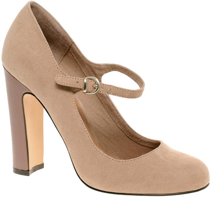 ASOS SUZIE Mary Jane Patent Heel Court Shoe