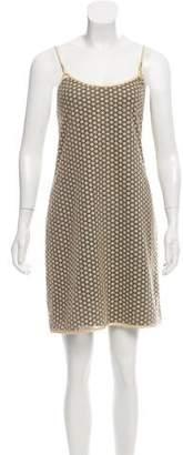 Diane von Furstenberg Sparkle-Accented Mini Dress