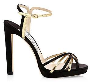209de3af10 Jimmy Choo Gold Platform Women's Sandals - ShopStyle
