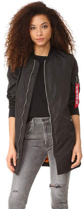 Alpha Industries Long Bomber Jacket $150 thestylecure.com