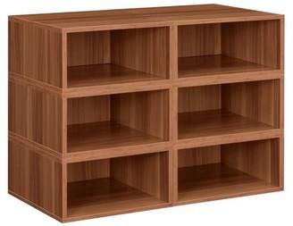 Cubo Niche Storage Set- 6 Half Size Cubes- Warm Cherry
