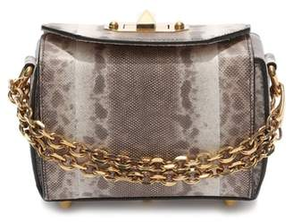 Alexander McQueen Mini Box Genuine Snakeskin Bag