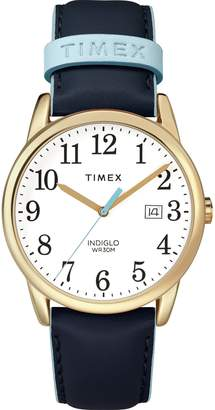 Timex Women's TW2R62600 Easy Reader 38mm -Tone Leather Strap Watch