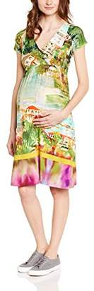 Pietro Brunelli Women's Empire Multi-Coloured Short sleeve Maternity Dress - - 6