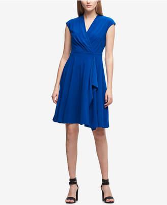 DKNY Matte Jersey Surplice Dress