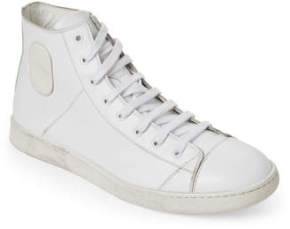 Marc Jacobs White Leather Mid-Top Sneakers