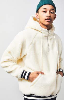 Civil Teddy Sherpa Quarter Zip Pullover Hoodie