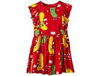 Mini Rodini Veggie Woven Ruffled Dress (Infant/Toddler/Little Kids/Big Kids)