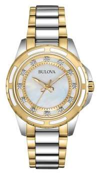 Bulova Ladies Two Tone Stainless Steel Watch