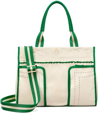 Tory Sport PERFORATED RUFFLE TOTE