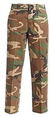 R 13 Women's Camo Straight-Leg Cargo Pants