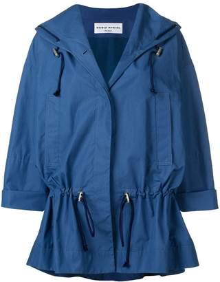Sonia Rykiel oversized drawstring waist jacket