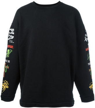 Off-White printed sleeve sweatshirt $565 thestylecure.com