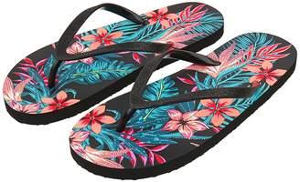 186e7e60b34b Next Womens Accessorize Black Floral Glitter Flip Flop