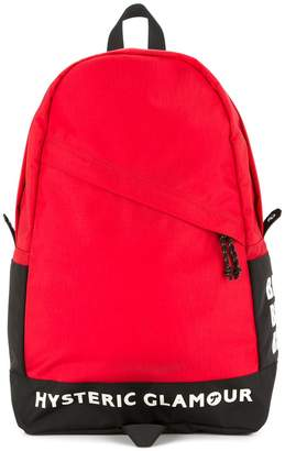 Hysteric Glamour logo zipped backpack