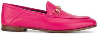 Gucci Fuchsia Pink Brixton Leather Loafers