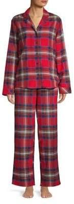 Lord & Taylor Two-Piece Plaid Cotton Pajama Set