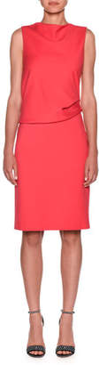Giorgio Armani Milano Jersey Sleeveless Popover Dress