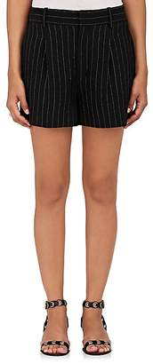 Chloé WOMEN'S PINSTRIPED SILK-BLEND SHORTS