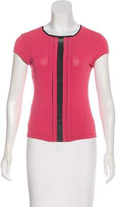Philosophy di Alberta Ferretti Mesh-Accented Short Sleeve Top
