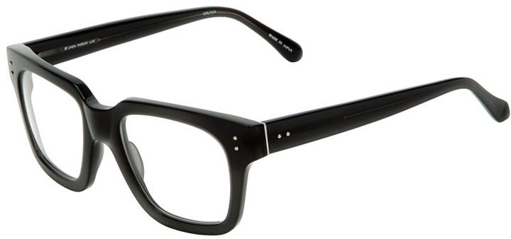 Linda Farrow Luxe Thick Rectanglular Optical Glasses