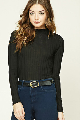 FOREVER 21+ Ribbed Mock Neck Top $9.90 thestylecure.com