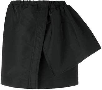 No.21 deconstructed track mini skirt
