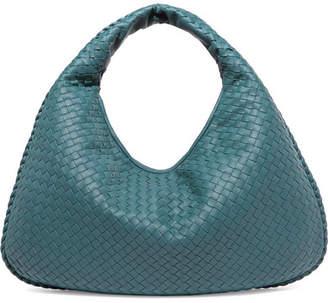 Bottega Veneta Veneta Large Intrecciato Leather Shoulder Bag - Petrol