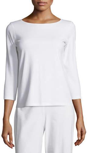 Eileen Fisher 3/4-Sleeve Cotton Tee